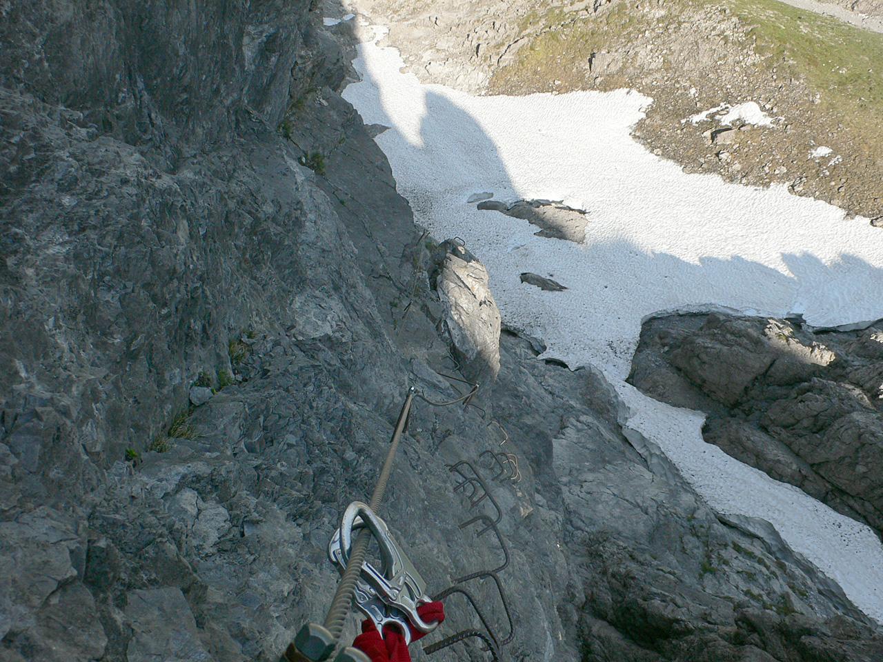 Klettersteig Saulakopf : Klettersteig saula ostwand