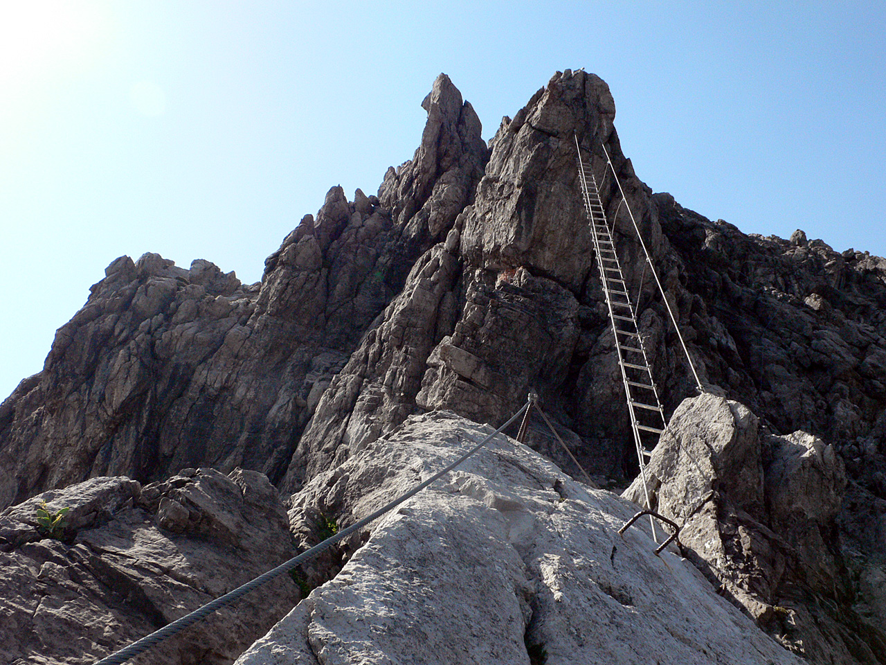 Klettersteig Lünersee : Klettersteig saula ostwand